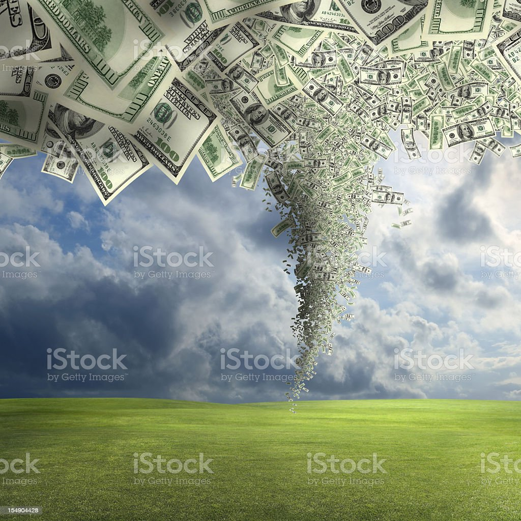 money twister power stock photo