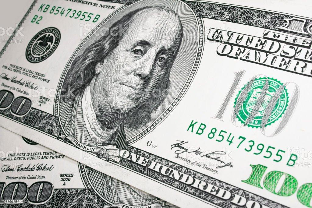 Money. US Dollars royalty-free stock photo