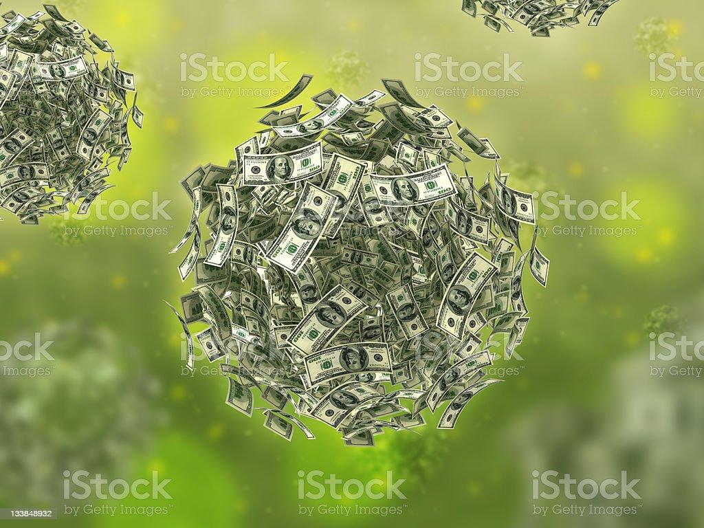 Money virus (business concept) royalty-free stock photo