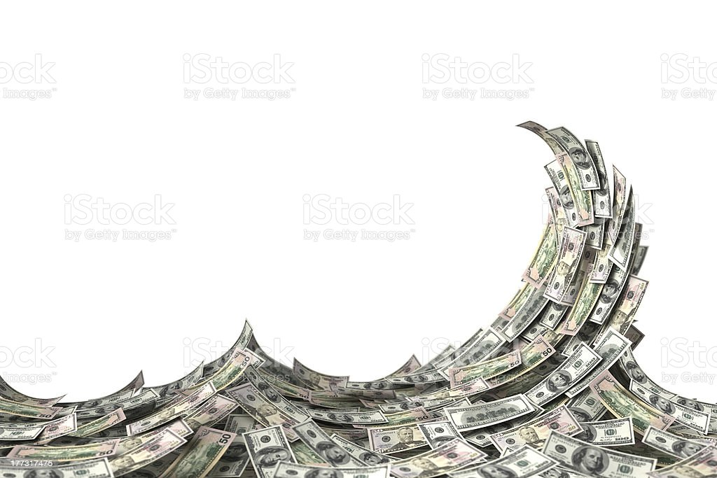 Money Wave stock photo