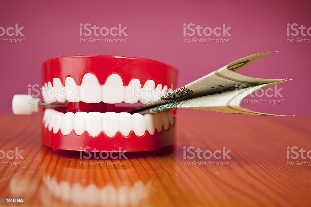 Money Where Your Mouth Is stock photo