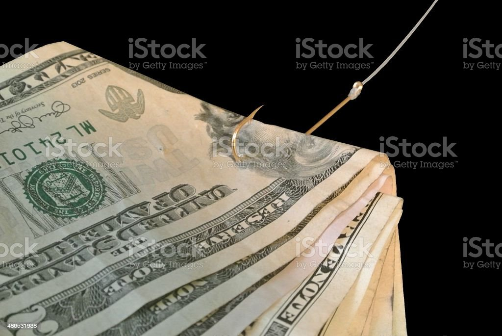 Money with a catch stock photo