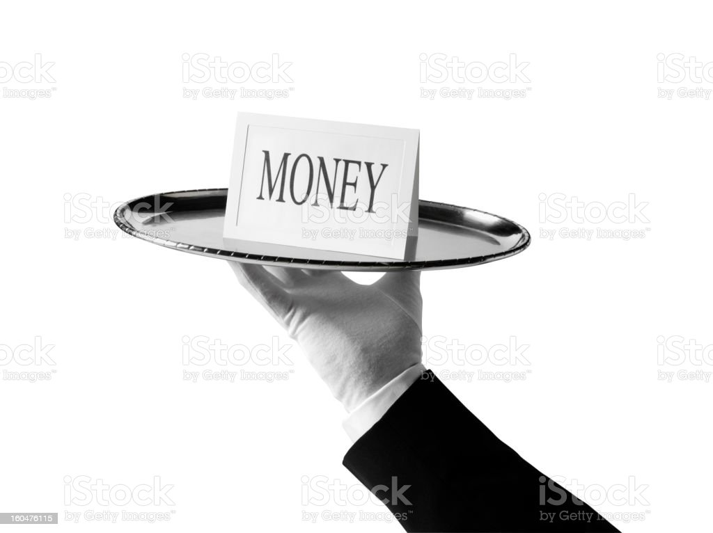 Money with a First Class Service royalty-free stock photo