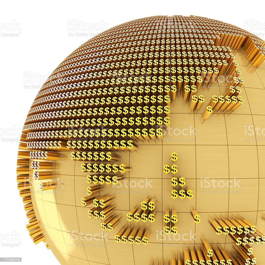 Money world, close-up on Asia royalty-free stock photo