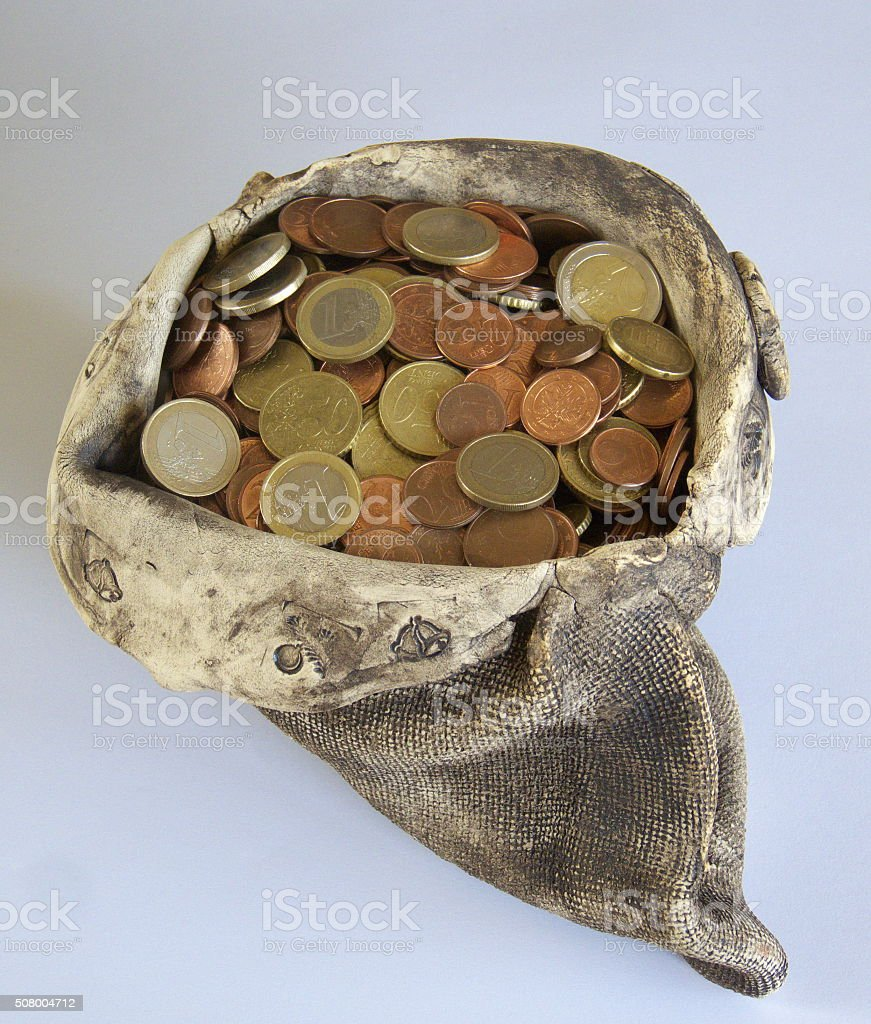 money-bag stock photo
