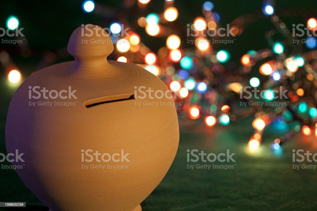 Moneybox for Christmas stock photo