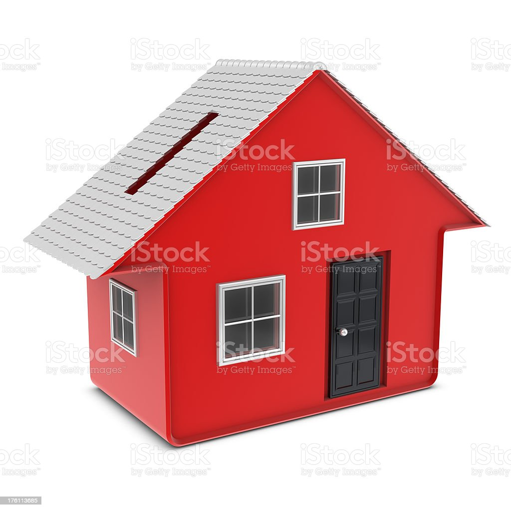 Moneybox - House royalty-free stock photo