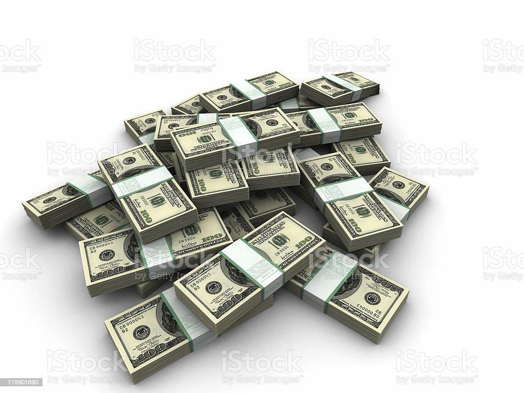 moneybundles stock photo