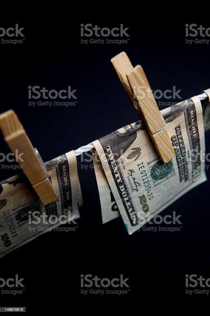 money-clothesline dryer royalty-free stock photo