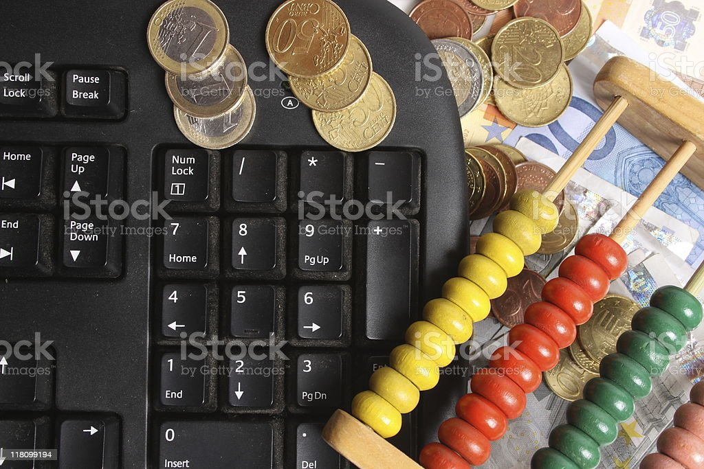 Money-counter royalty-free stock photo