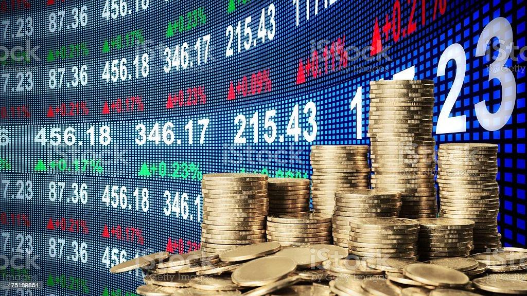Moneyed, money, bank stock photo