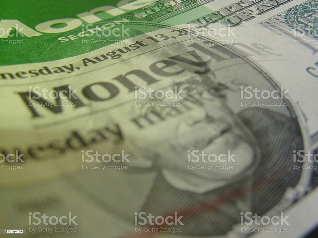 MoneyLine royalty-free stock photo