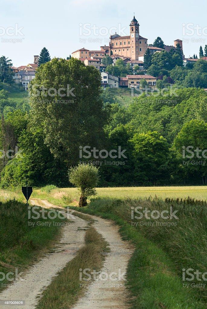 Monferrato (Piedmont): landscape stock photo