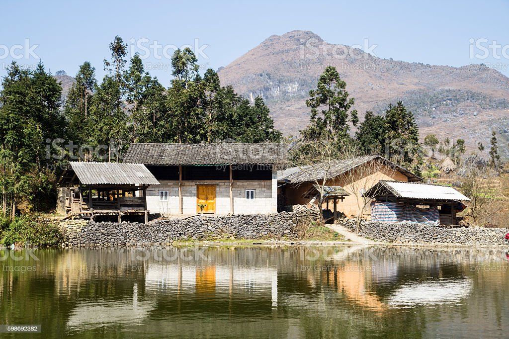H'mong houses stock photo