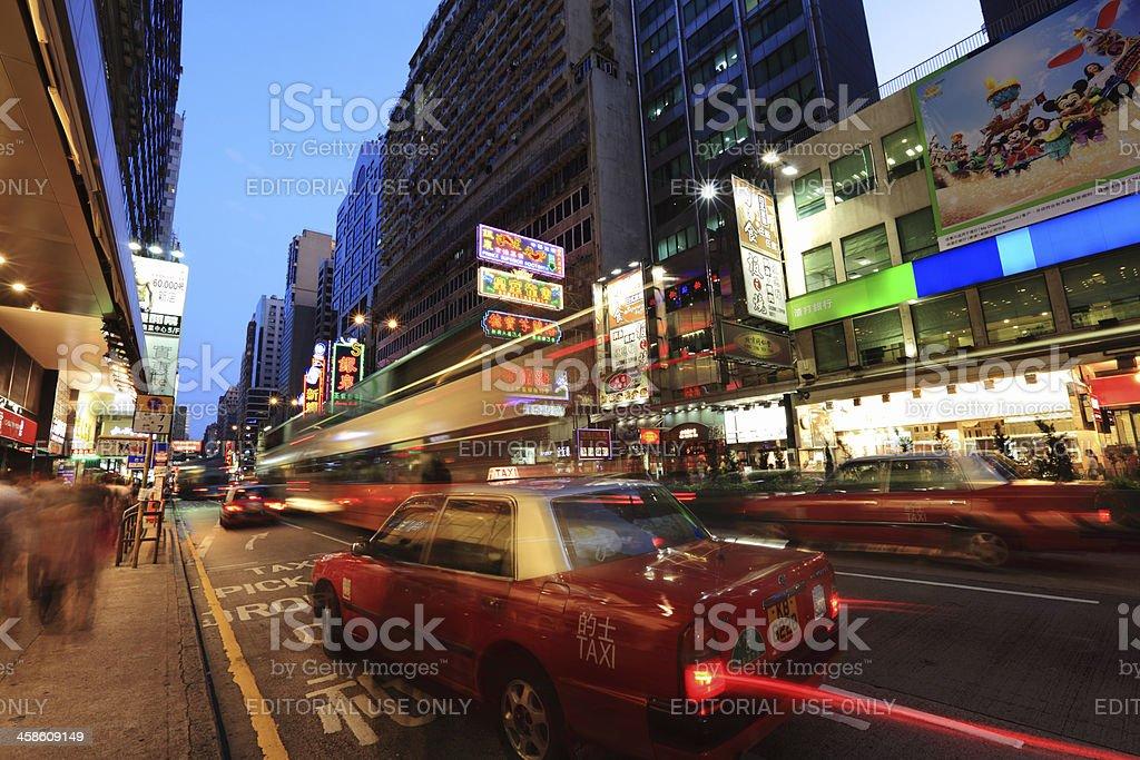 Mong Kok at Night royalty-free stock photo