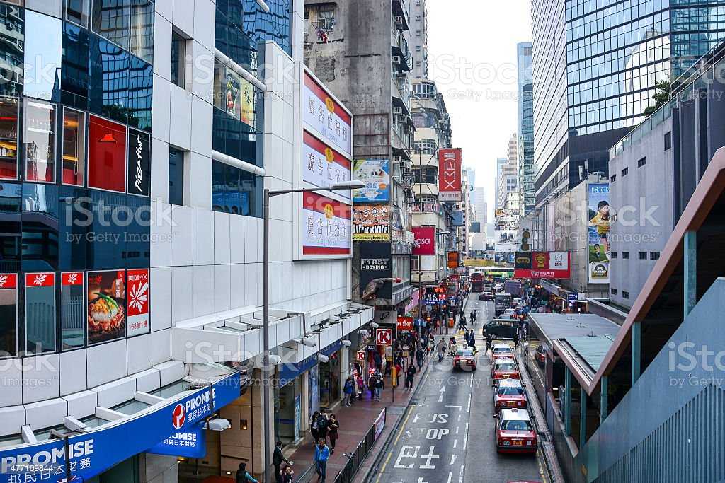 Mong kok district in Kowloon, Hong Kong stock photo