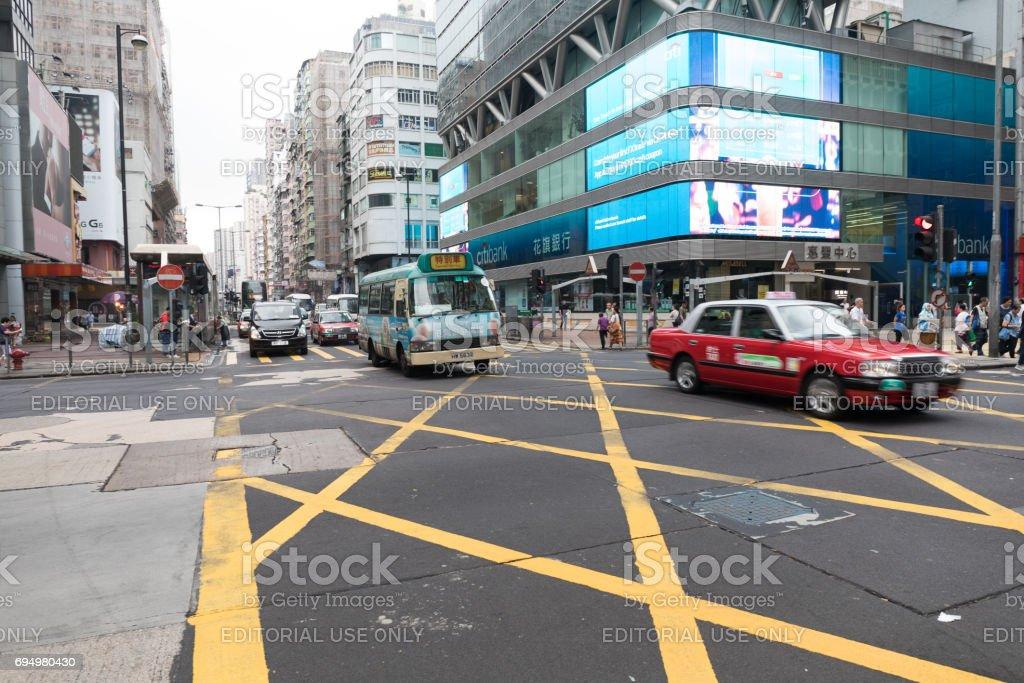 Mong Kok Intersection stock photo