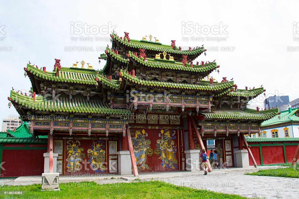 Mongolia: Bogd Khan Palace in Ulan Bator stock photo
