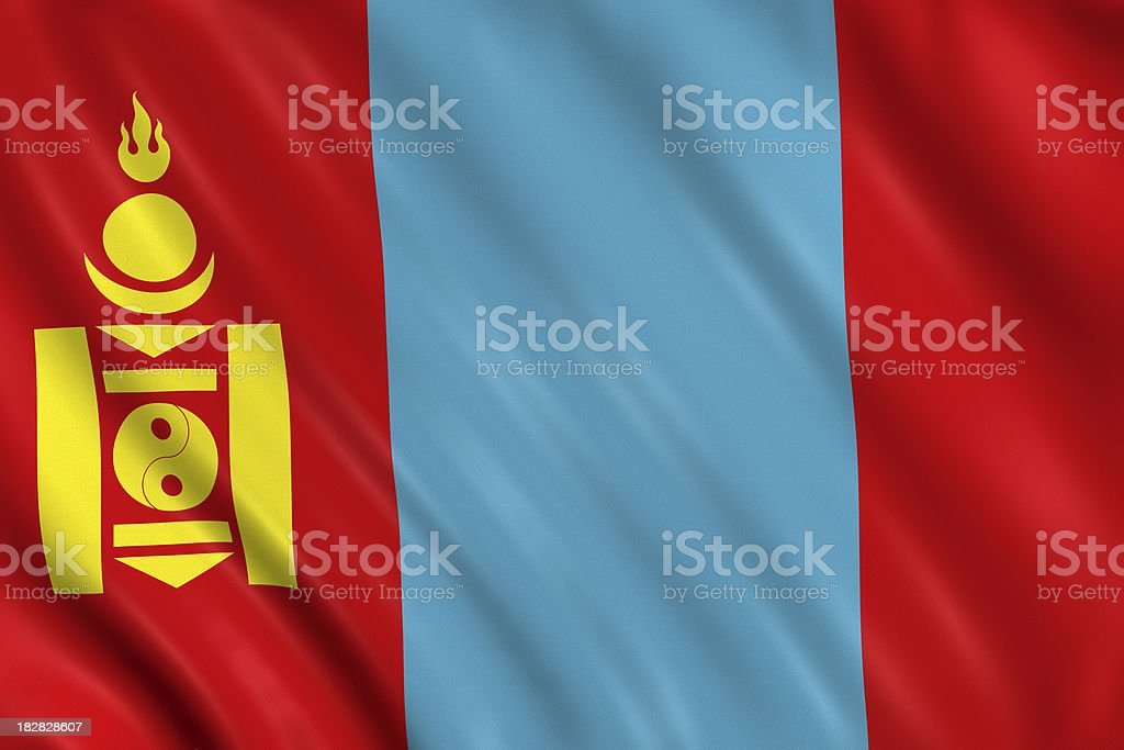 mongolia flag stock photo