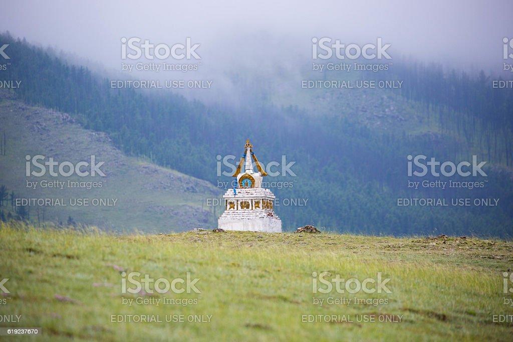 Mongolia: Hilltop Stupa stock photo