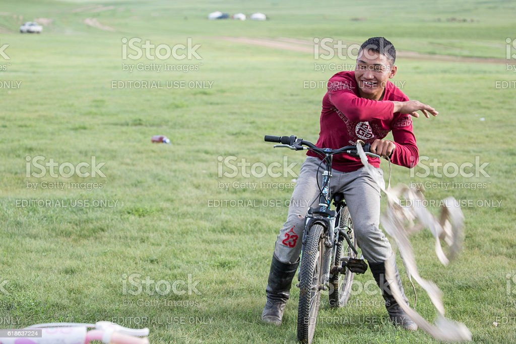 Mongolia: Nomadic Man stock photo