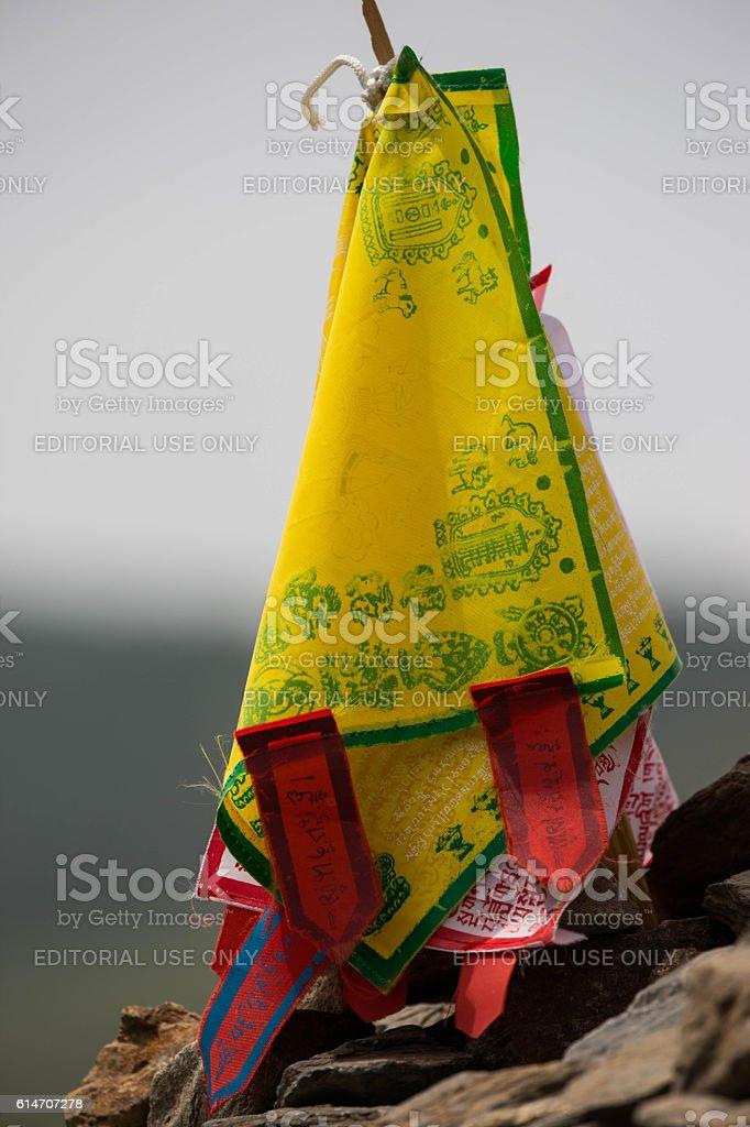 Mongolia: Prayer Flags in Ulan Bator stock photo
