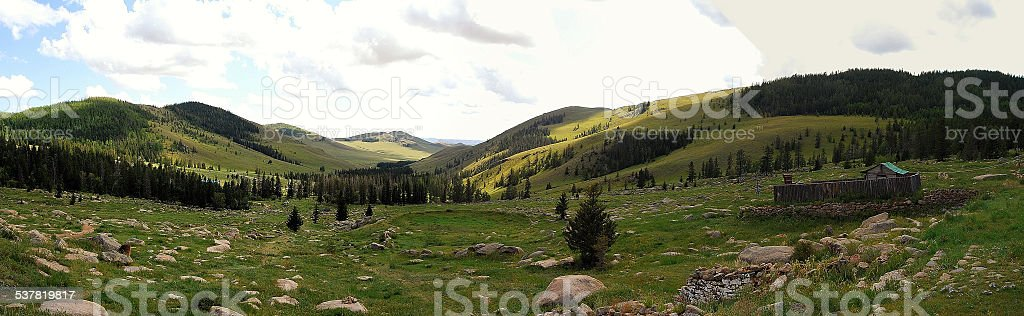 Mongolia - Protected area of Bogdkhan Uul stock photo