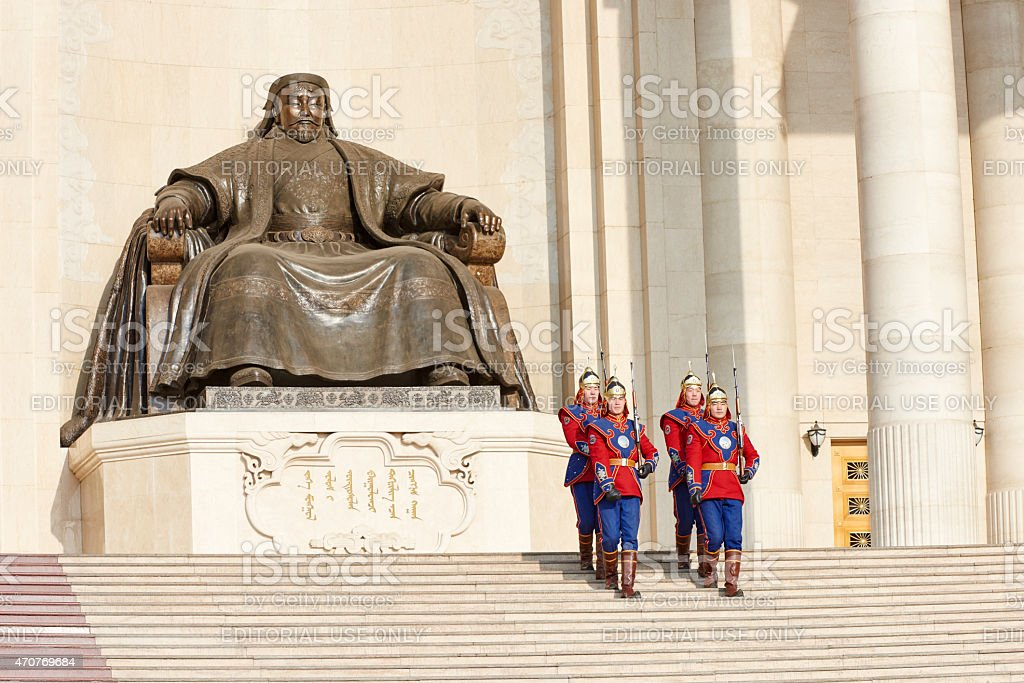 Mongolian Armed Forces Honorary Guard stock photo