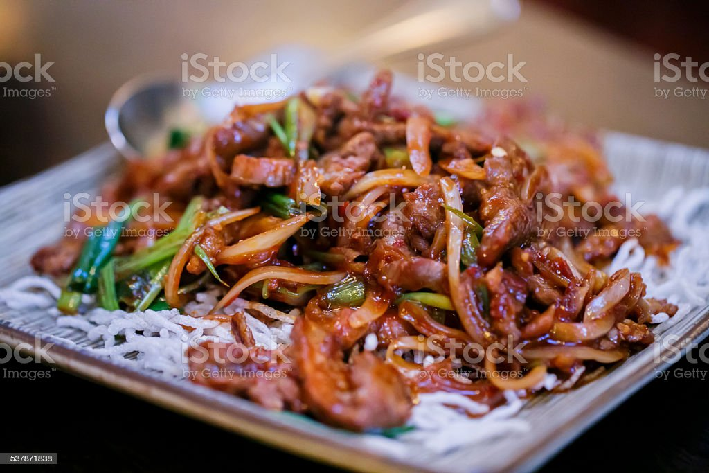 Mongolian Beef stock photo