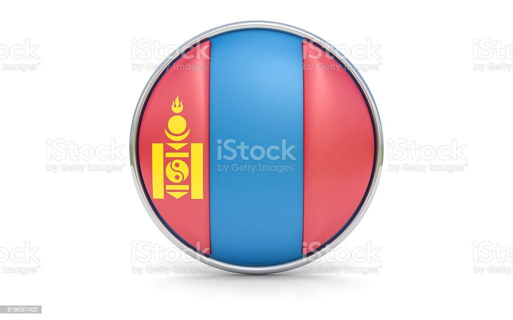 Mongolian flag stock photo