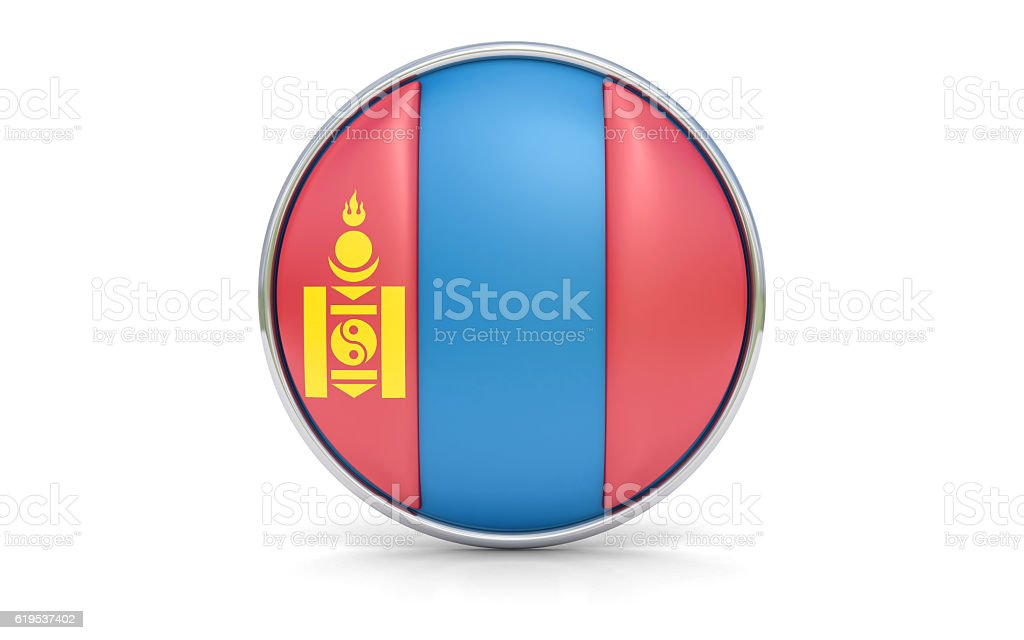 Mongolian flag stock photo
