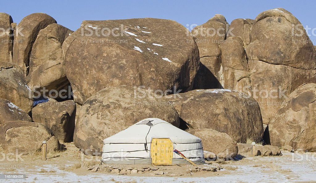 Mongolian ger royalty-free stock photo