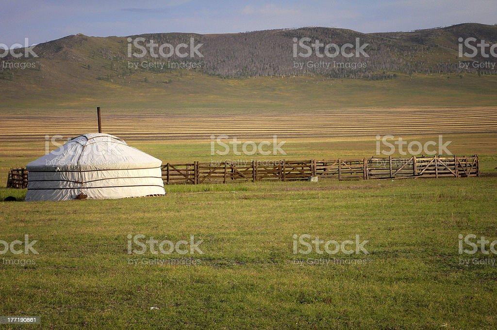Mongolian Ger tent / yurt royalty-free stock photo