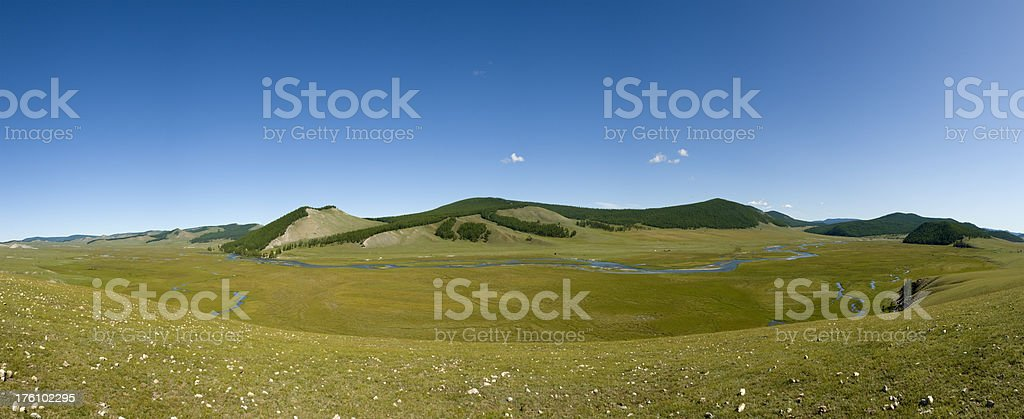 Mongolian Landscape stock photo