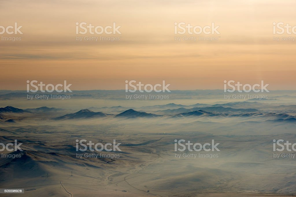 Mongolian Mountain Range stock photo