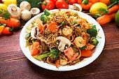 Mongolian Shrimp & Beef