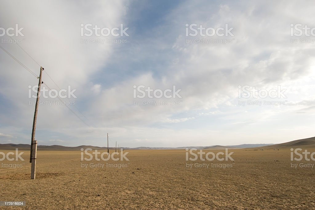 Mongolian Steppe Wilderness royalty-free stock photo