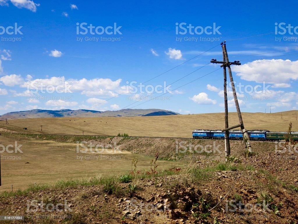 Mongolian Train stock photo