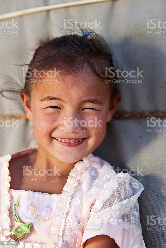 Mongolian young girl royalty-free stock photo