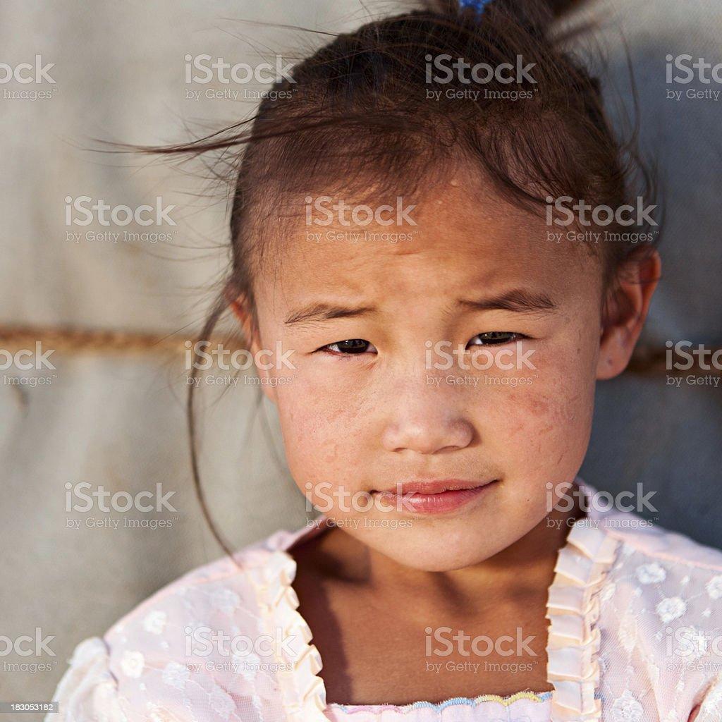 Mongolian young girl royalty-free stock photo
