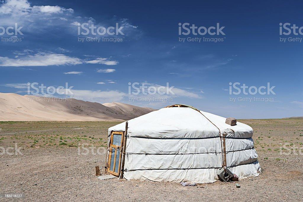 Mongolian yurt royalty-free stock photo