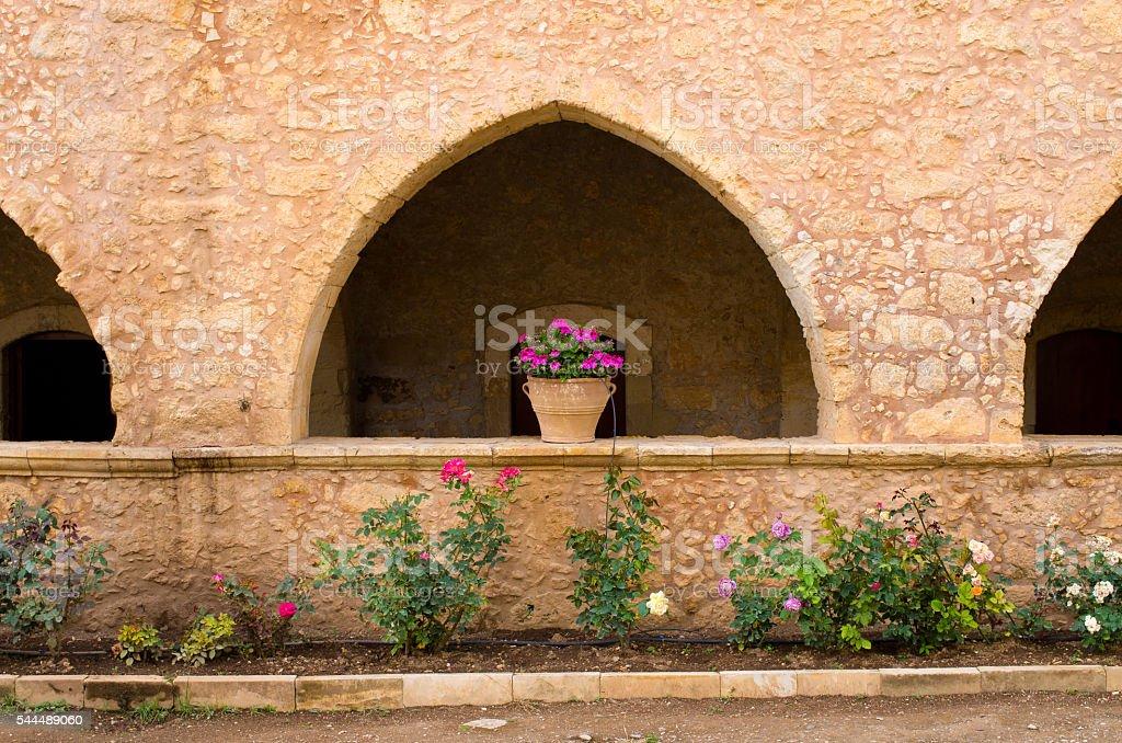 Moni Arkadiou cloister - Crete, Greece stock photo