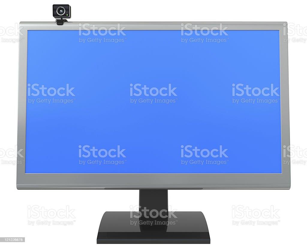 LCD monitor and web camera royalty-free stock photo