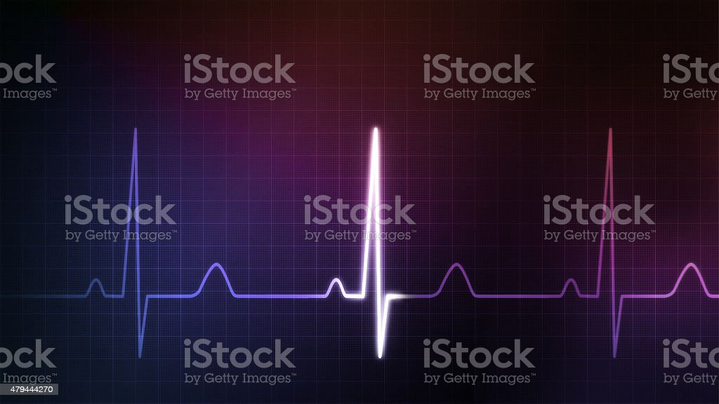 EKG monitor blue colorful stock photo