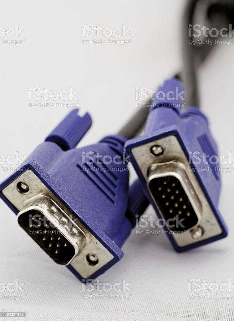 VGA monitor cable D-Sub royalty-free stock photo