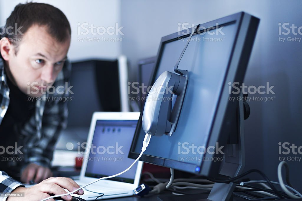 Monitor calibration stock photo