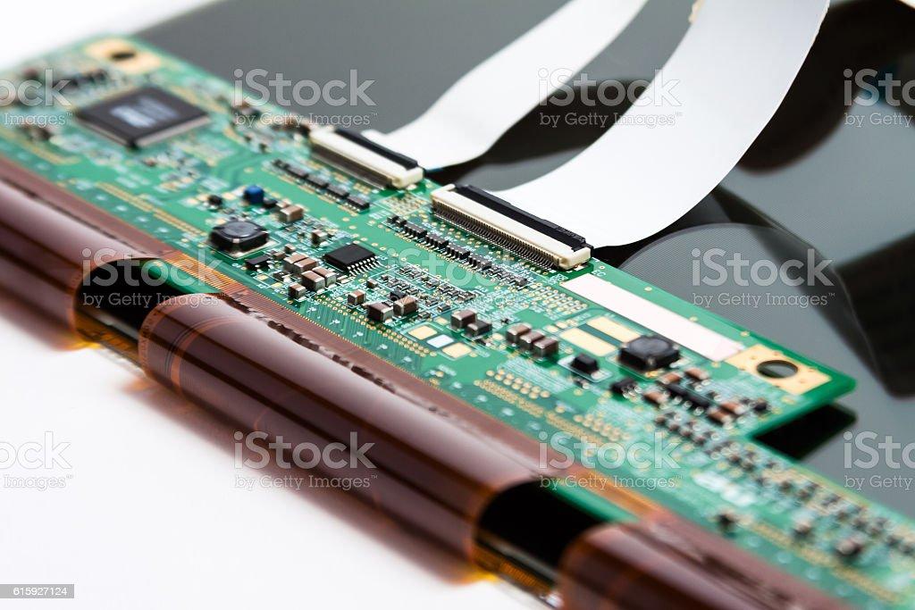 VGA monitor circuit board and LCD display stock photo