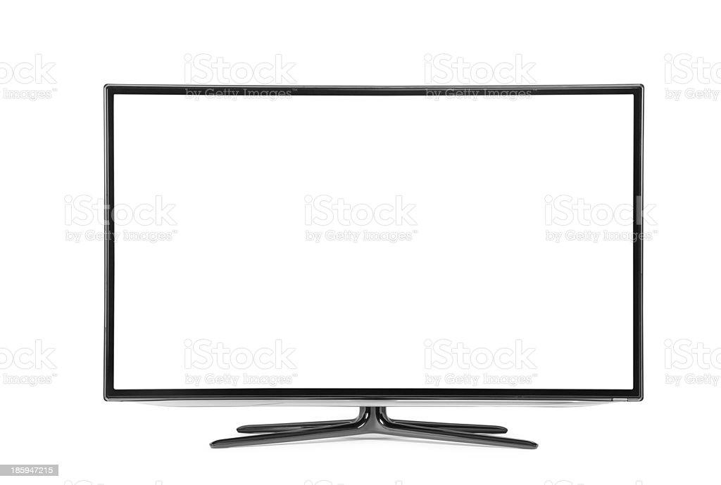 monitor isolated on white royalty-free stock photo