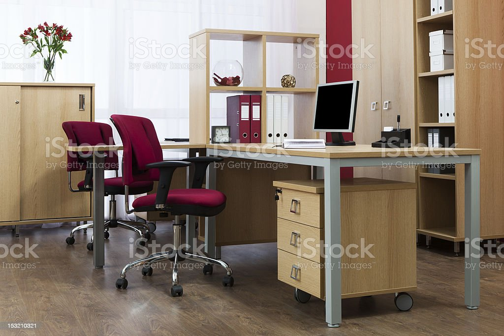 monitor on a desk royalty-free stock photo