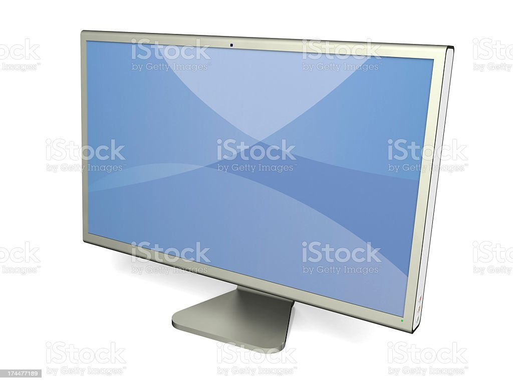 HD monitor - Right angle royalty-free stock photo